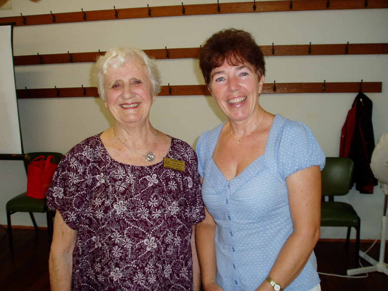 Jacqui and Noelle at Forster/Tuncurry U3A Seminar